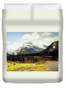 Majestic Mount Rundle Duvet Cover