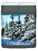 Majestic Winter In New England  Duvet Cover