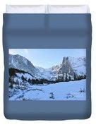 Majestic Winter Landscape Duvet Cover