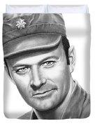 Major Frank Burns Duvet Cover