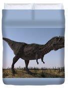 Majungasaurus In A Barren Environment Duvet Cover