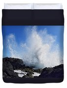 Makapu'u Lava Rock Splash Duvet Cover