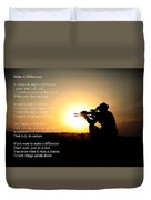 Make A Difference Duvet Cover