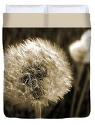Make-a-wish Dandelion Sepia Duvet Cover