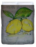 Make Lemonade Duvet Cover