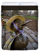 Make Way For Ducklings B.a.a. 5k Spring Bonnet Blanket Duvet Cover