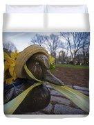 Make Way For Ducklings B.a.a. 5k Spring Bonnet Duvet Cover