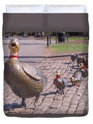 Make Way For The Ducklings Duvet Cover