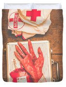 Make Your Own Frankenstein Medical Kit  Duvet Cover