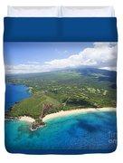 Makena Beach Aerial Duvet Cover