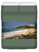 Makena Beach Panorama Duvet Cover