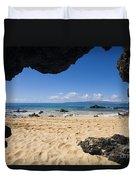 Makena View From Secret Beach Duvet Cover