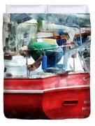 Making The Boat Shipshape Duvet Cover