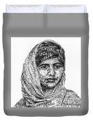 Malala Yousafzai Duvet Cover