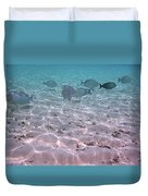 Maldives School Of Tropical Fish Duvet Cover
