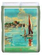 Maldon, England, Sailing Boats Duvet Cover