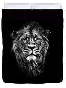 Male Asiatic Lion Duvet Cover