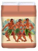 Male Dancers Of Lifuka, Tonga Duvet Cover