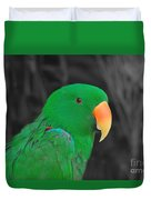 Male Eclectus Duvet Cover