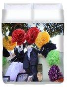 Male Female Color Doll Skeleton  Duvet Cover