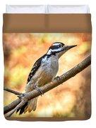 Male Hairy Woodpecker Duvet Cover