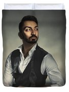 Male Portrait Duvet Cover