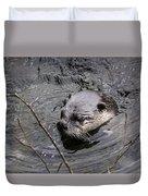 Male River Otter Duvet Cover