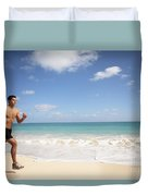 Male Runner Duvet Cover