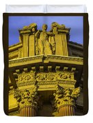 Male Statue Palace Of Fine Arts Duvet Cover
