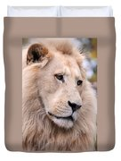 Male White Lion ... Thabo Duvet Cover