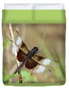 Male Widow Skimmer Dragonfly #3 Duvet Cover