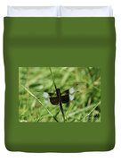 Male Widow Skimmer Dragonfly #4 Duvet Cover