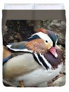 Male Wood-duck Duvet Cover