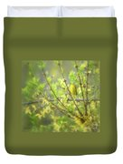Male Yellow Warbler Duvet Cover