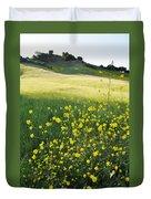 Malibu Creek Wildflowers Duvet Cover