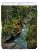 Maligne Canyon Falls Jasper National Park Duvet Cover