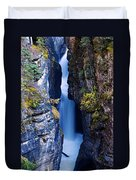 Maligne Canyon Duvet Cover
