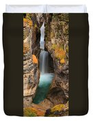 Maligne Canyon Vertical Panorama Duvet Cover