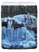 Maligne Canyon Winter Wonders Duvet Cover