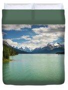 Maligne Lake In Jasper National Park Duvet Cover