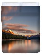 Maligne Lake Sunrise Duvet Cover