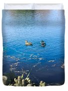 Mallard And Cypress Knees Duvet Cover