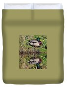 Mallard And Reflection Duvet Cover