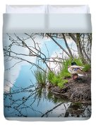 Mallard At Silver Lake Duvet Cover