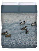 Mallard Ducks In Pond 2 Duvet Cover