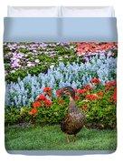Mallard In The Garden Duvet Cover