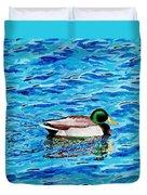 Mallard On Water Duvet Cover