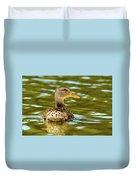 Mallard Or Wild Duck - Anas Platyrhynchos Duvet Cover