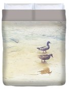 Mallards At The Chattahoochee River Duvet Cover