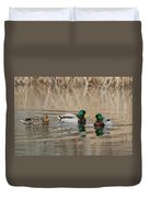 Mallards On The Pond Duvet Cover